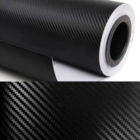 Folia carbon tłoczona 3D czarna 1,52x30m rolka