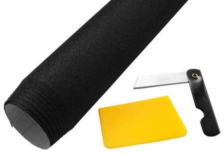 Folia czarna brokat 152x50cm + nożyk i rakla