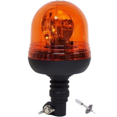 Lampa ostrzegawcza na trzpień H1 12/24V pomarańczowa, E8 R65