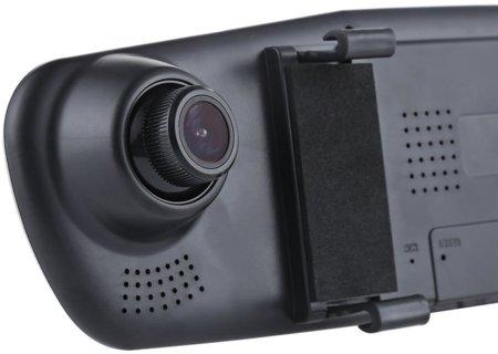 """Rejestrator jazdy DVR w lusterku 4,3"""" z kamerą cofania"""