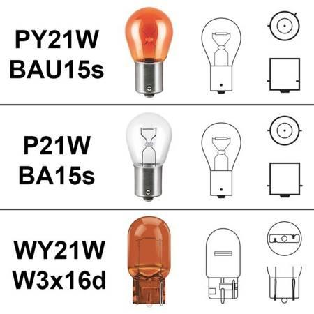Żarówki WY21W W3x16d Canbus 144 SMD 12V pomarańczowe do kierunkowskazów